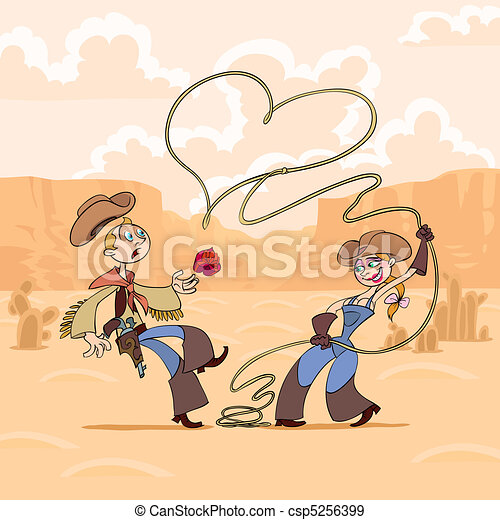Valentine's Day of cowboy - csp5256399