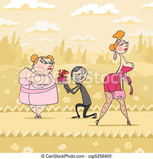 Valentine's Day and other woman - csp5256400