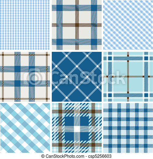 Set of plaid patterns - csp5256603