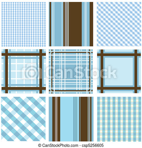 seamless patterns with fabric textu - csp5256605