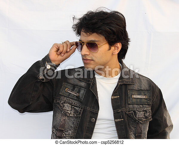 Stock Photo - portrait of a young indian men - stock image, images ...