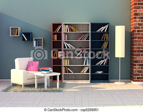 study room, modern room - csp5256951