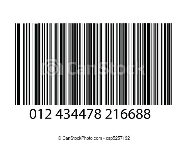 bar-code on white background - csp5257132