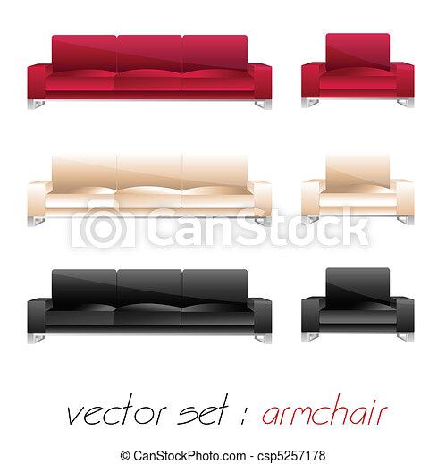 armchair, sofa set - csp5257178