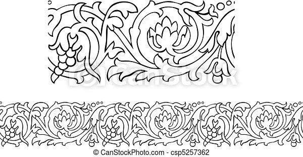 Victorian style repeating border - csp5257362