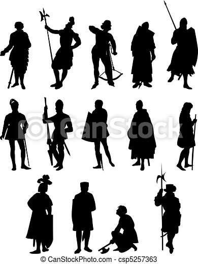 14 Knight Silhouettes - csp5257363