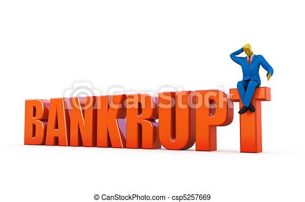 Bankrupt concept - csp5257669