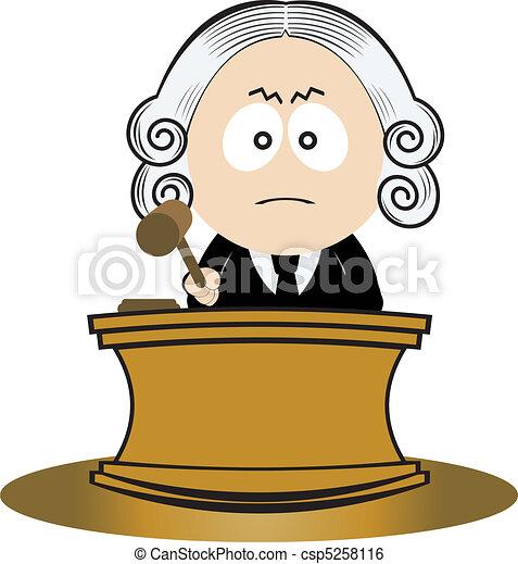 Judge using his gavel - csp5258116