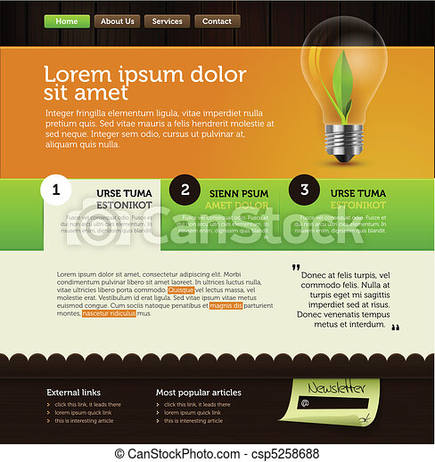 rich vector web page layout - csp5258688