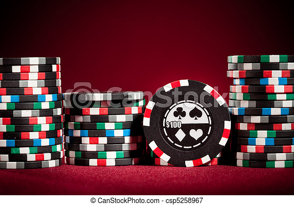 Casino gambling chips - csp5258967