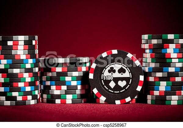 Casino gambling chips  - csp5258967