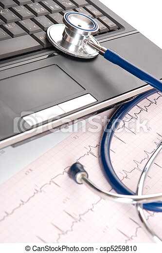 Doctor workplace - medical concept - csp5259810