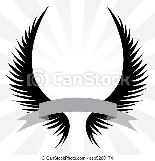 Gothic Wings Crest - csp5260174