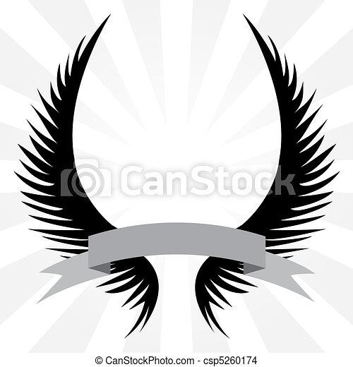 Gothic Wings Crest - csp5260174