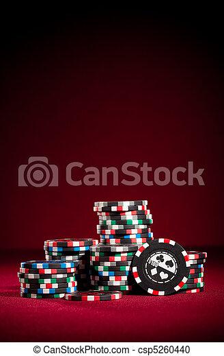 gambling chips - csp5260440
