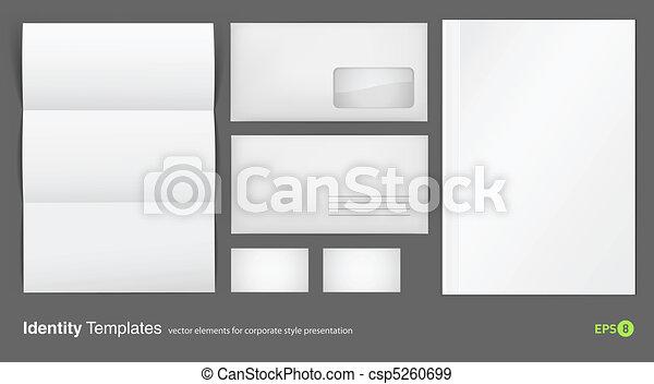 set of corporate identity templates - csp5260699