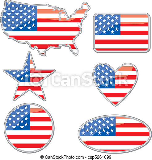 USA placards - csp5261099