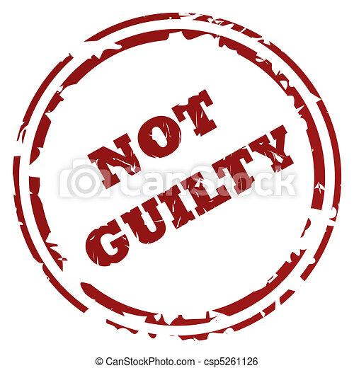 Not guilty stamp - csp5261126