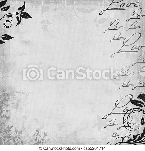 Romantic  vintage background (1 of set) - csp5261714