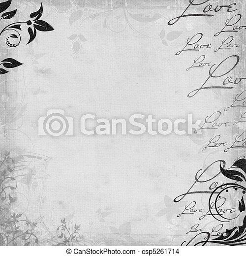 Romantic  vintage background (1 of set) - csp5261714