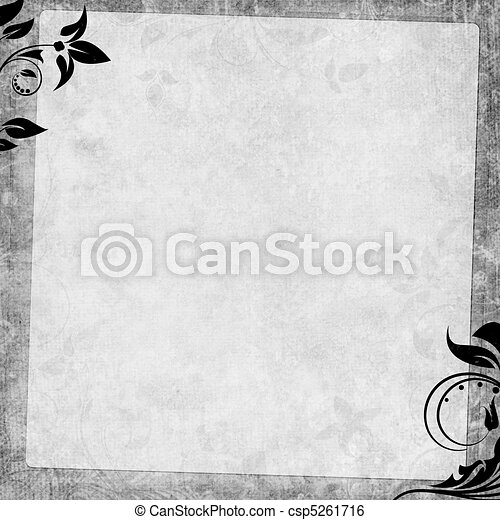 Romantic  vintage background in scrapbooking style  (1 of set) - csp5261716