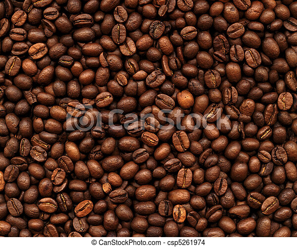 Coffee Bean Background - csp5261974