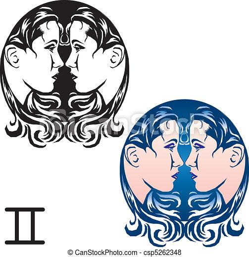 Gemini zodiac sign  - csp5262348