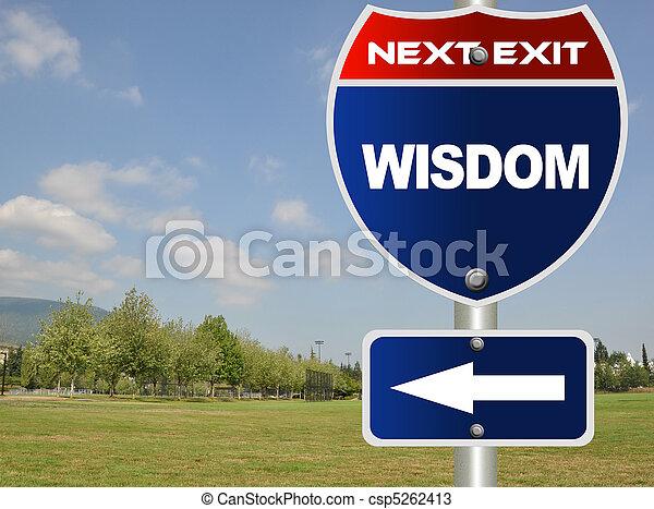Wisdom road sign  - csp5262413