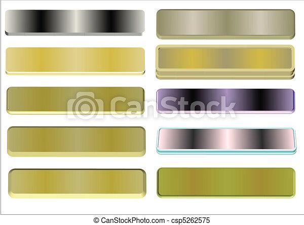 metal name plates - csp5262575