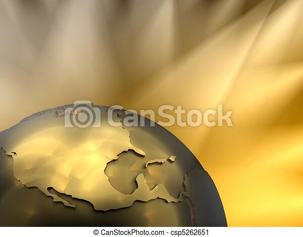 Gold Globe Close-up, North America - csp5262651
