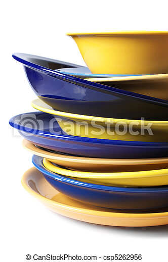 Multicolored dishware - csp5262956