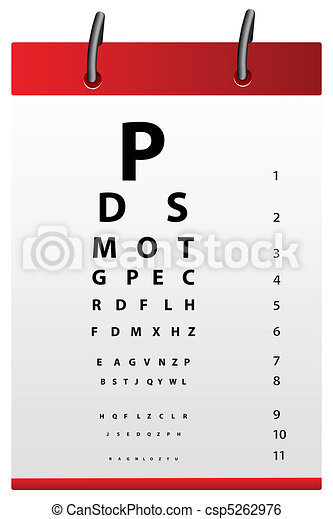 eye testing board - csp5262976