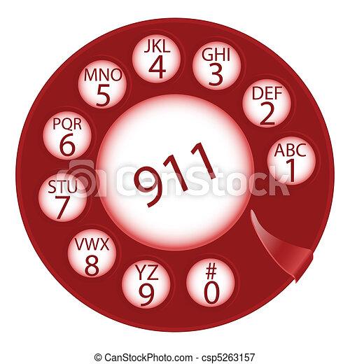 emergency dial disk - csp5263157