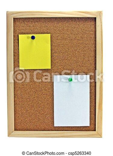 Pinboard - Notice board  - csp5263340