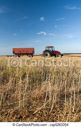 Agriculture - tractor - csp5263354