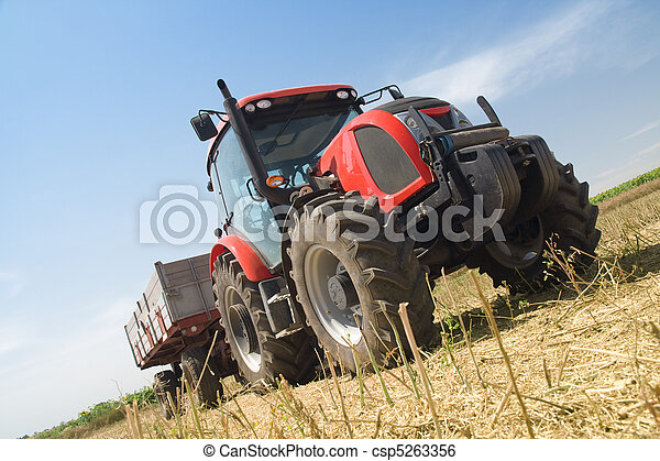 Agriculture - tractor - csp5263356