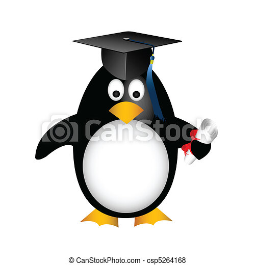 graduation penguin - csp5264168