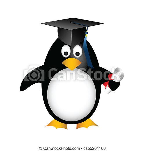 graduation penguin - csp5264168