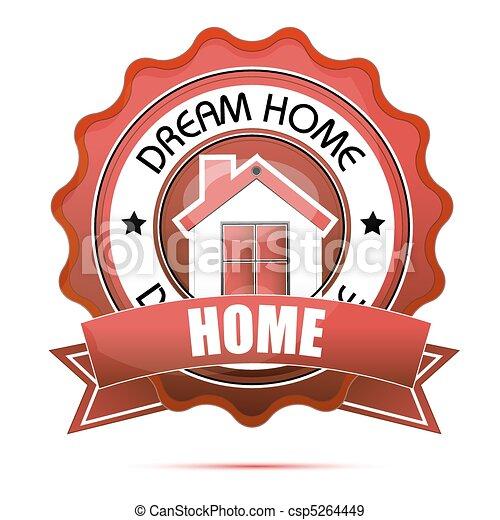 dream home tag - csp5264449