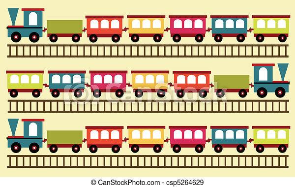 train pattern, toy background - csp5264629