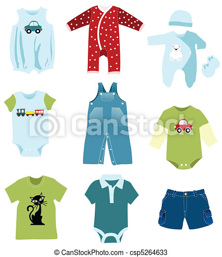 Baby boy elements, clothes - csp5264633