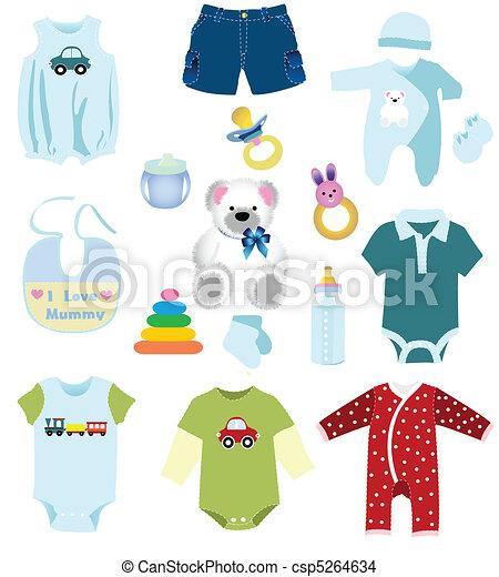Baby boy elements, clothes - csp5264634