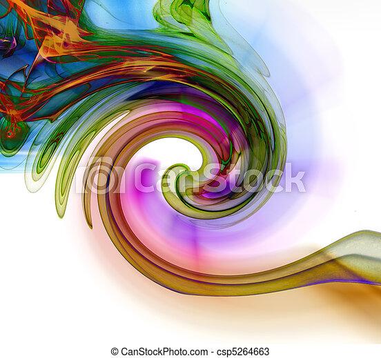 抽象的な 芸術, 煙, 処理 - csp5264663