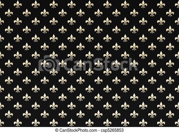 zeichnungen von schwarz lilie gold hintergrund gold lilie auf csp5265853 suchen sie. Black Bedroom Furniture Sets. Home Design Ideas