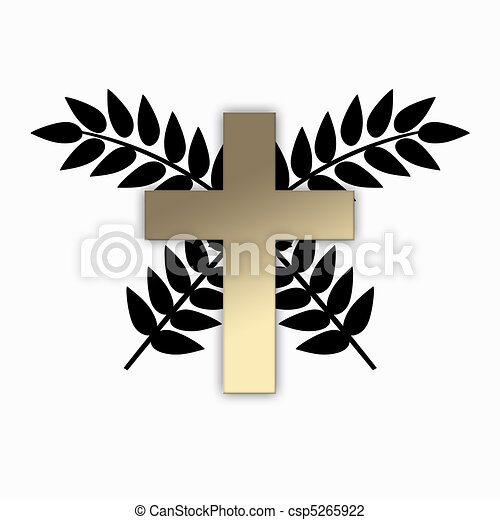 religious sign on white background - csp5265922