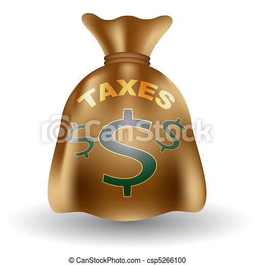 Taxes Money Bag - csp5266100