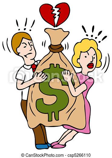 Couple Fighting Over Money - csp5266110