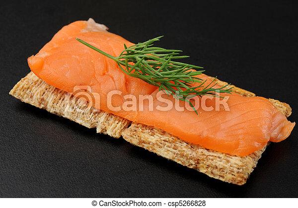 Smoked Salmon Snack - csp5266828
