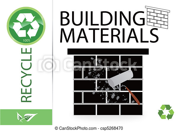 Please recycle building materials - csp5268470