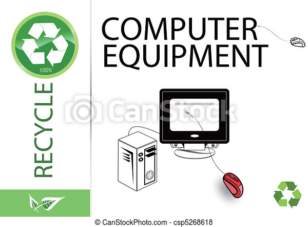 Please recycle computer equipment - csp5268618